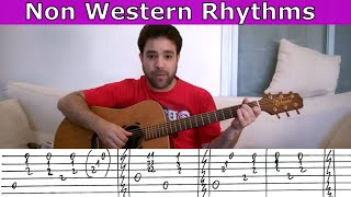 6 Latin, Caribbean, Russian & Arabic Guitar Rhythms - Fingerstyle Lesson Tutorial w/ TAB