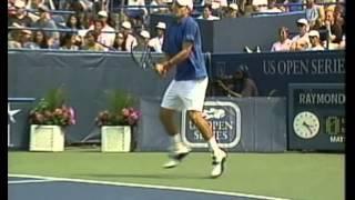 Roddick almost decapitated by a Karlovic's serve