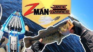 Fishing the Z-Man/Evergreen Jack Hammer Chatterbait For Prespawn Bass - First Open Water Bass 2019