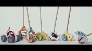 видео Деревянные каталки купить | деревянные игрушки каталки для детей в интернет-магазине V3Toys.ru