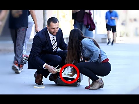 DROPPING $100,000 PRANK!!