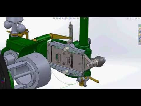 3 1/2 HP Crossley Slide Valve Restroration Animation