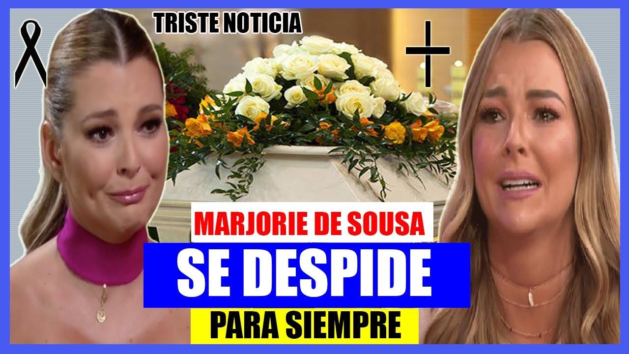 MARJORIE DE SOUSA ESTÁDE LUTO Y  DESCONSOLADA SE DESPIDE DE QUERIDA ACTRIZ 😭😭😱😱