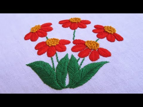 Hand Embroidery | Raised Fishbone Stitch | Hand Embroidery