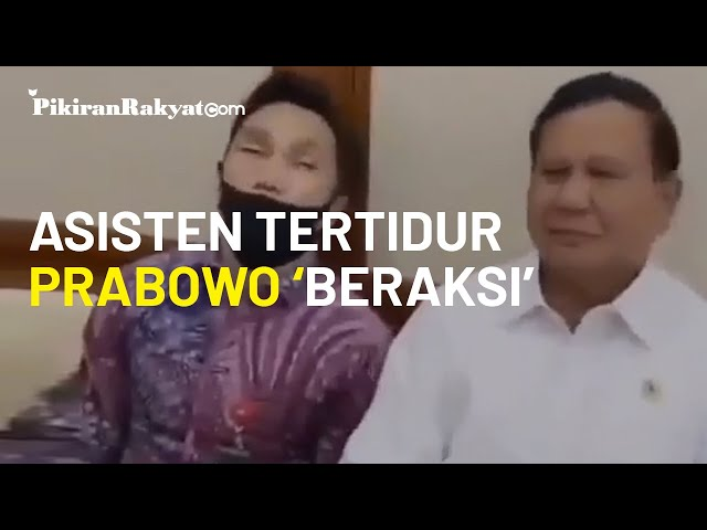 Viral, ketika Menteri Pertahanan RI Prabowo Subianto Menjahili Asisten yang Tertidur saat Rapat