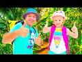 Nastya y papá se van de viaje al bosque, divertida serie de aventuras