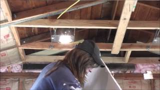 One Woman Drywall Technique...The Ceiling (Part 1)