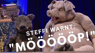 Die Schweine Steffi und Torsten über Warnsysteme