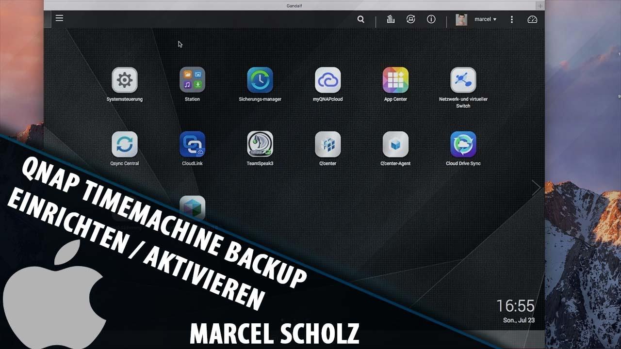 Set up / enable QNAP TimeMachine Backup | QNAP Tutorial | Marcel Scholz
