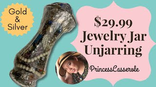 $29.99 Savers Jewelry Jar Unjarring | Found Gold & Silver (2019)
