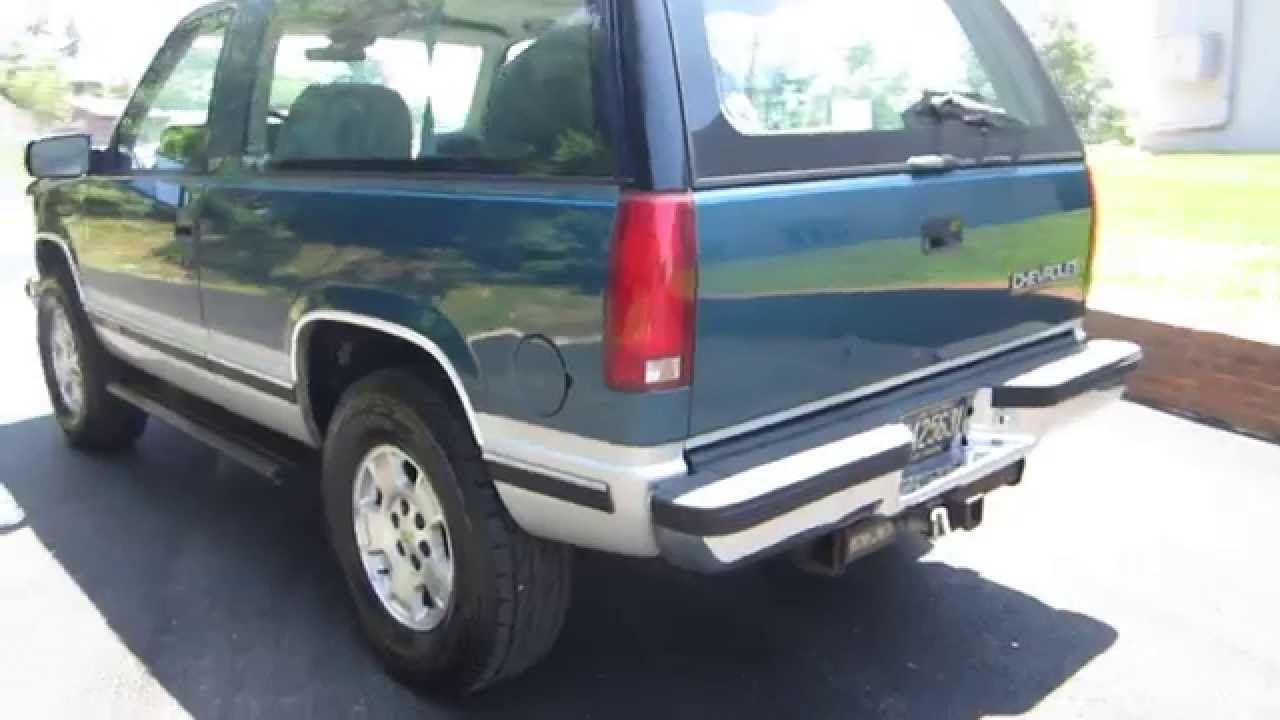 Don Brown Chevrolet >> ** SUPER CLEAN !! ** 1993 CHEVY K5 2-DOOR SILVERADO BLAZER 4X4 ** SOLD !! - YouTube