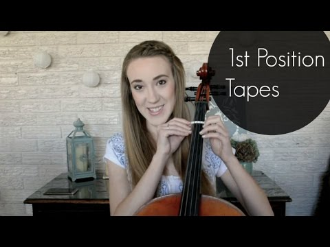 How To Put 1st Position Tapes On a Cello | How To Music | Sarah Joy