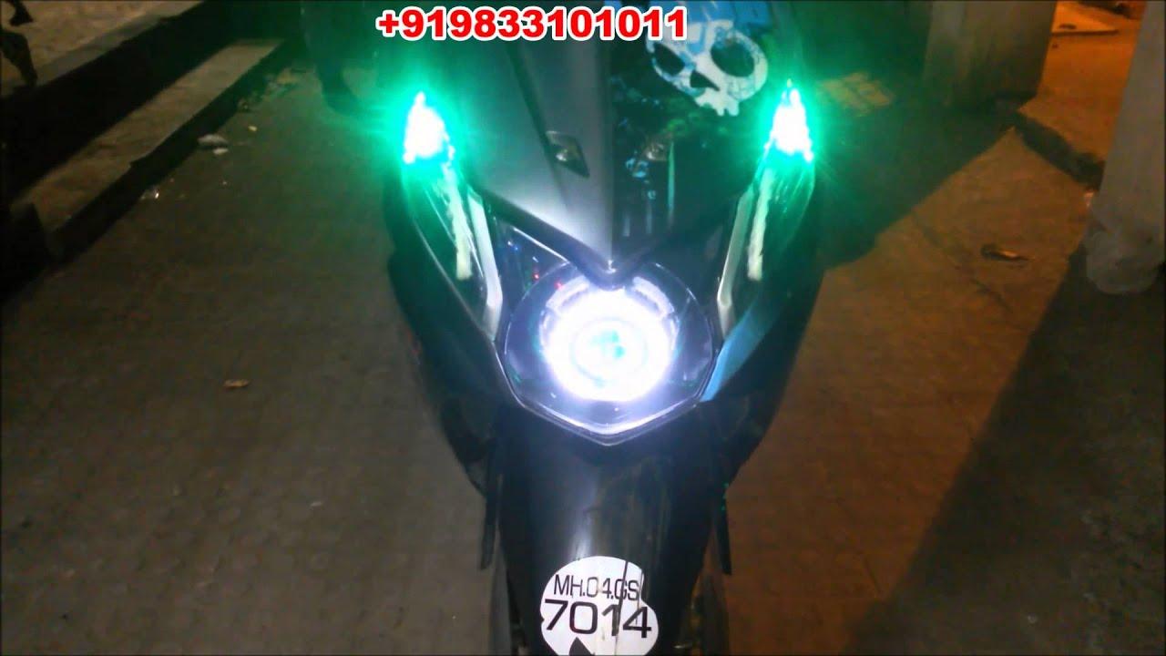 HONDA DIO PROJECTOR HEADLIGHT U0026 FULL LED CONCEPT BY VISHAL