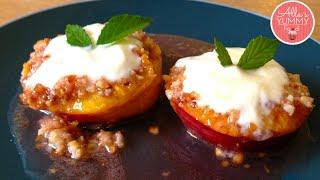 Baked Peaches Recipe - Healthy Dessert- Запеченныe Персики Рецепт!