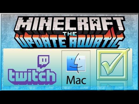 Fix Twitch Launcher For 1.13 Minecraft Mac - Play Aquatic Update Version 1.13.2