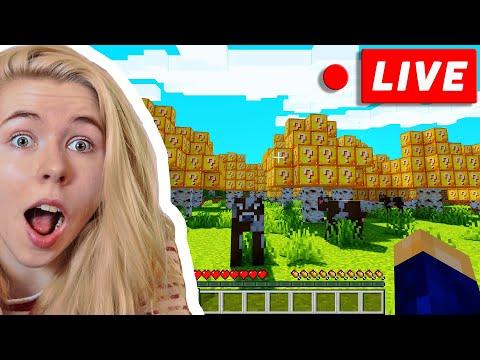 Minecraft, ABER LUCKY BLOCKS wachsen auf BÄUMEN! LIVESTREAM