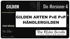 ESO Guide German GILDEN ARTEN PvE PvP HÄNDLERGILDEN The elder scrolls Online Guide Deutsch