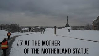Extremely cold near the Motherland Statue in Kiev - Киïв (2012)