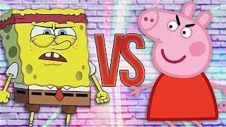 - СУПЕР РЭП БИТВА Губка Боб VS Свинка Пеппа SPONGE BOB SQUAREPANTS Против PEPPA PIG