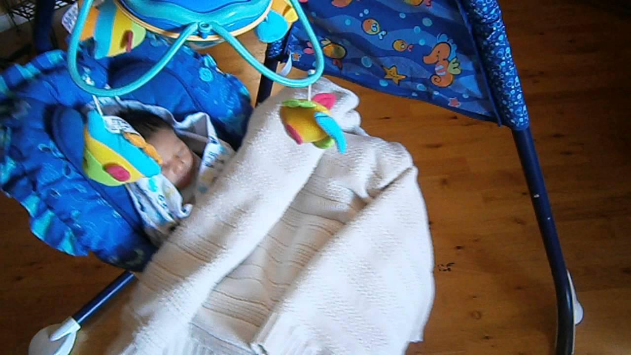 Newborn Rocking In Ocean Wonders Cradle Swing