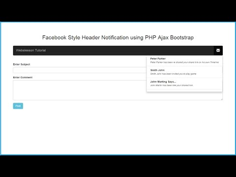 How to Create Facebook Notification System in PHP with Ajax