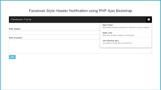 How to Create Facebook Notification System in PHP with Ajax Mp3