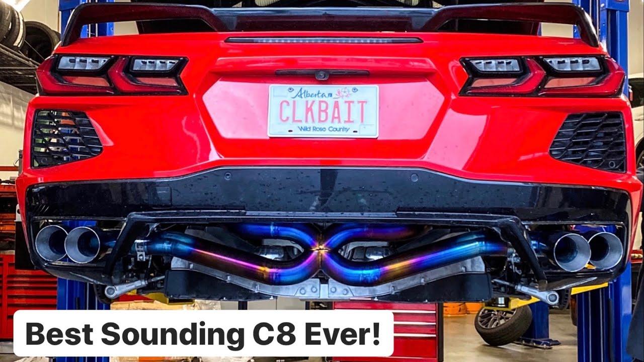 c8 mid engine corvette with a titanium