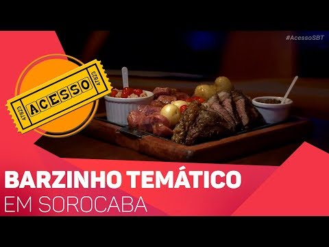 Barzinho temático em Sorocaba - TV SOROCABA/SBT