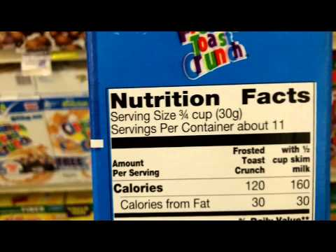 How To Read Food Nutritional Labels: Ingredients, Serving Size and Calories