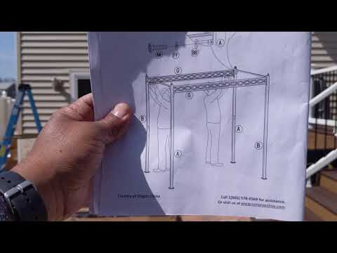 How To Assemble Wilson & Fisher Oakmont Domed Small Space/Grill Gazebo