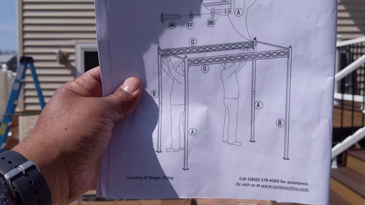 how to assemble wilson fisher oakmont domed small space grill gazebo