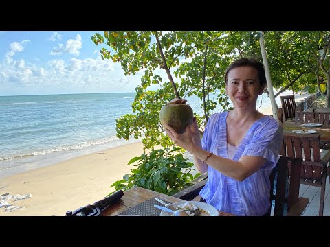 Beach Front Seafood Restaurant & Driving In Koh Samui