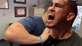 Anthony Pettis gets INTENSE chiropractic adjustments to improve his performance!