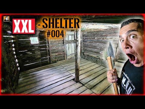 XXL SHELTER bauen #004 | mit Sägewerk FUßBODEN & Tür gebaut | Survival Mattin