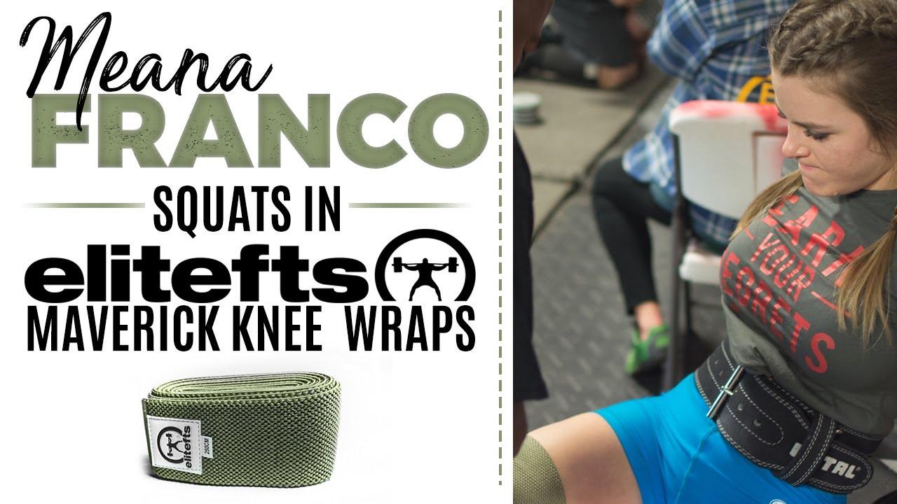 e3eecc447c Testing Maverick Knee Wraps, Meana Franco Squats 360lbs   elitefts.com