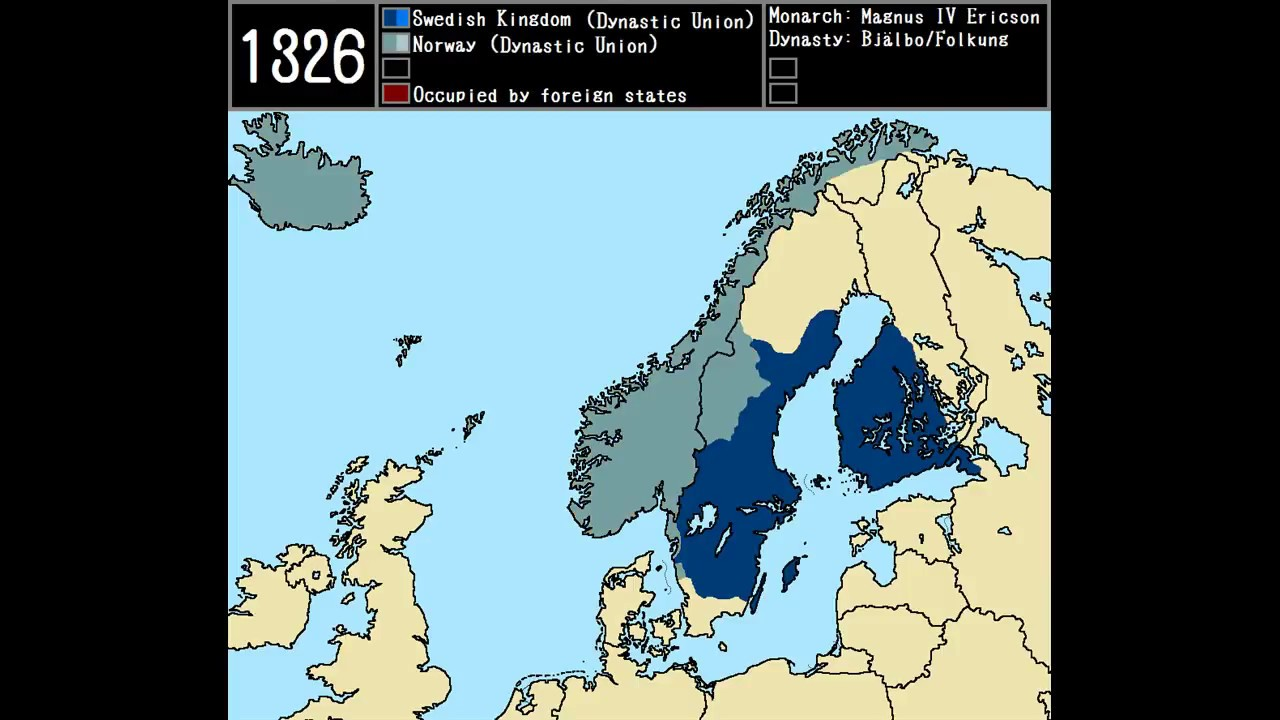 The Rise Of Sweden Every Year YouTube - Map sweden 2014