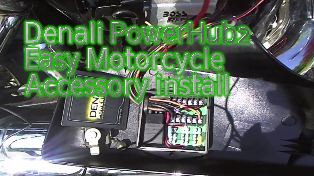 [CSDW_4250]   Denali PowerHub2 Easy Motorcycle Accessory install - YouTube | Denali Powerhub2 Fuse Block |  | YouTube