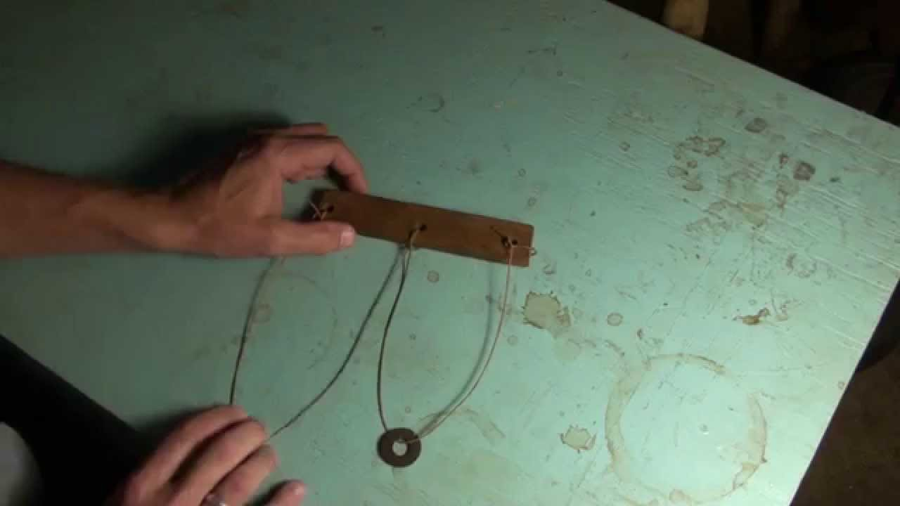 Wood String And Washer Trick Puzzle Revealed For A Friend