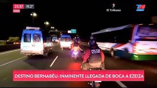Los policías que acompañaban a Boca chocaron entre ellos