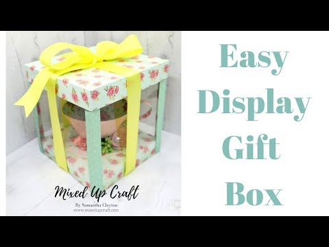 Easy Display Gift Box | Tea-Cup & Saucer Gift Box / Brilliant Craft Fair Idea