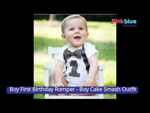 Boys 1st Birthday Romper