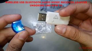 Wireless USB Bluetooth Audio Music Receiver Adapter UNBOXING / HOW TO