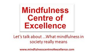 Let's Talk About .....Mindfulness in Society