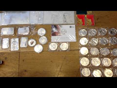 Gold and Silver Bullion Stack