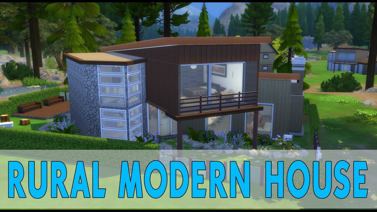 The sims 4 houses 16 rural modern house casa rural for Casas rurales modernas
