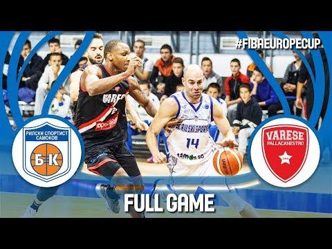 LIVE 🔴 - Rilski Sportist (BUL) v Pallacanestro Varese (ITA) - Gameday 1 - FIBA Europe Cup 2018-19