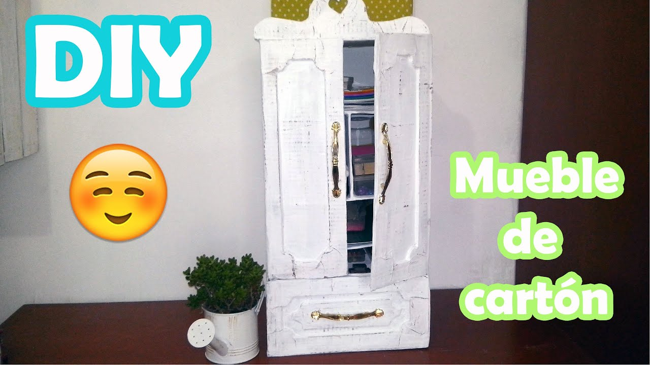 Diy mueble de cart n reciclado youtube - Muebles en carton ...