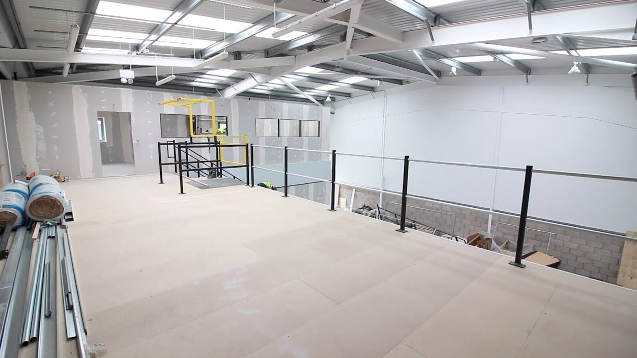 Office Storage Mezzanine Floor Blackburn Distributions Project Update Youtube