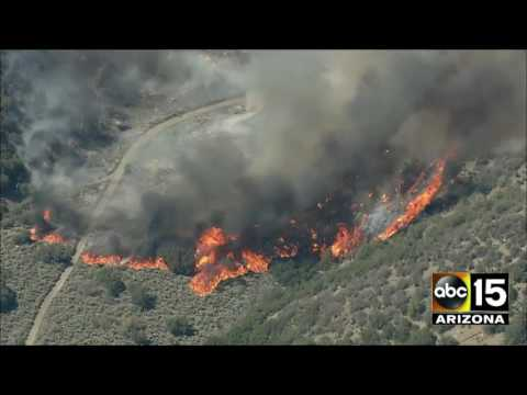 AFTERNOON AERIALS: Blue Cut fire in Southern California