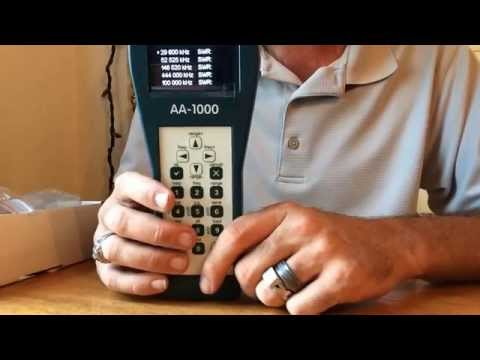 Rigexpert AA-1000 antenna analyzer review demo
